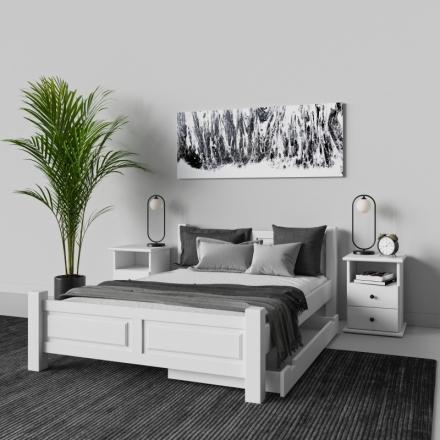 Biely Nočný Stolík - 9513