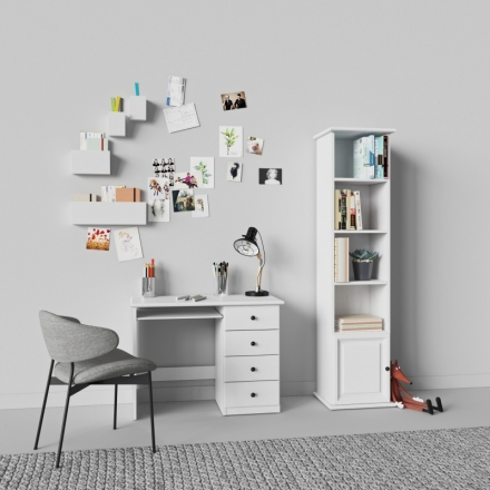 Biely Písací Stôl - 9700